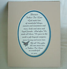 FATHER IN LAW Dad GOD MADE Loyal Friends Loving RARE GIFT verses poems plaques