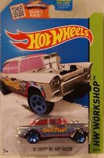 Hot Wheels ZAMAC 55 CHEVY BEL AIR GASSER RARE WALMART EXCLUSIVE SOLD OUT!!XHTF!!