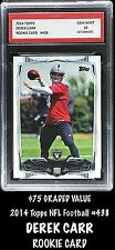 2014 Topps NFL Derek Carr #438 1ST GRADED 10 Rookie Card RC Oakland Raiders QB
