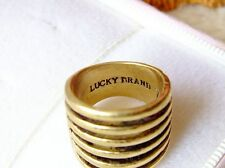 New Alloy Retro Lucky Brand Gold tone Multiple Ring Size 7