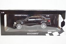 BMW 1 ER SERIES 1M M1 E82 COUPÉ SCHWARZ BLACK SILVER RIMS 1/18 MINICHAMPS  M2 M3