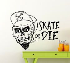 Skateboarding Wall Decal Vinyl Skater Extreme Sport Sticker Home Art Mural 69ex