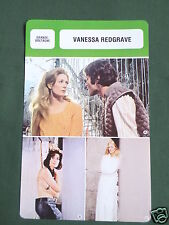 VANESSA REDGRAVE - MOVIE STAR - FILM TRADE CARD - FRENCH
