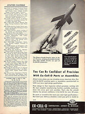 1956 Chance-Vought Regulus Missile Ex-Cell-O Aviation Parts, Detroit Michigan Ad