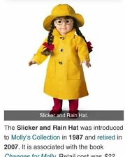 American Girl Molly's or Emily's Pleasant Co Slicker & Rain Hat