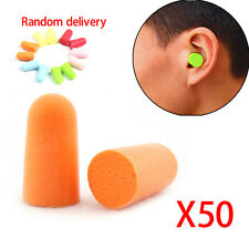 50 Pairs Soft Travel Sleep Noise Foam Earplug Reducer Plug Ear Protector