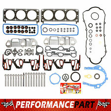 "Full Gasket Set & Head Bolts Chevrolet GM Buick 96-99 3.1L OHV V6 ""2nd Design"""