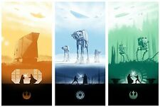 """STAR WARS - ICONIC FANTASY Movie Wall Art Canvas Picture (3 Panels) 10""""x20"""""""