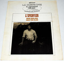 Partition ancienne vintage sheet music HUGUES AUFRAY : L'Epervier * 60's