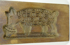 Antique Butter Mold Cookie Stamp Speculaas Springerle Folk Art RARE PIG Big 27""