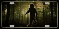 Bigfoot In The Woods Novelty Metal License Plate