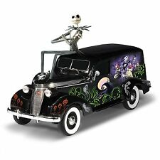 Hamilton Collection Nightmare Before Christmas Hearse Jack Skellington 1:18 NEW