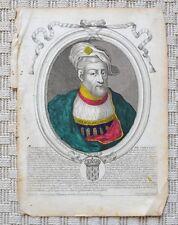 Gravure Originale XVIIème par Nicolas Ier de Larmessin - Thierry IV de Chelles