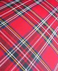 RED TARTAN CHECKED ROYAL STEWART FABRIC MATERIAL BY THE FAT QUARTER 48CM