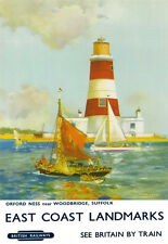 Orford Ness near Woodbridge Suffold East Coast Landmarks  Travel  Poster Print