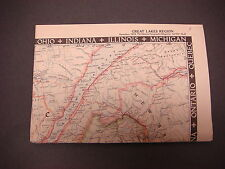 1953,National Geographic Map,Great Lakes Region,December Vol CIV No 6. S1837