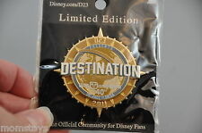 D23 DESTINATION D PIN WDW 40TH ANNIVERSARY LOGO PIN LIMITED EDITION 500
