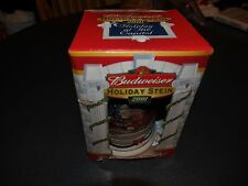 Budweiser 2001 Holiday at the Capitol WHITE HOUSE Beer Stein NEW IN BOX