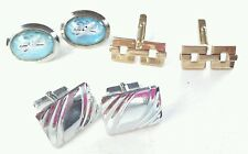 Lot of 3 pair of cuff links swank anson and bubble airplane airliner
