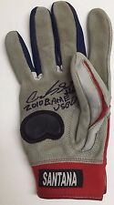 Carlos Santana signed and game worn 2010 batting glove! Cleveland Indians!