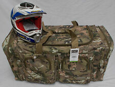 XL Motorcycle atv gear bag motocross off road digital Military woodland camo