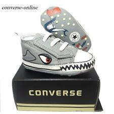 Bébé garçons converse all first star shark slip on lit baskets chaussures uk 19 taille 3