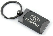 Subaru WRX Outback Gunmeal Rectangular Keychain Car Fob Key Ring Chain Lanyard