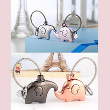1 Pair Elephant Pendant Keychain Fr Lovers Couple Key Ring Trinket Nice Gift Hot