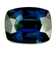 Certified Natural Sapphire 1.65ct Cushion VS Unheated Greenish Blue Color