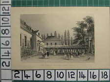 1851 ANTIQUE LONDON PRINT ~ THE GARDENS HIGHBURY BARN TAVERN