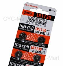 4pcs x Zero Hg Maxell LR1130  Batteries AG10 189 Brand New FREE POST 12/2019