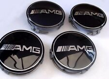 4x 75mm Mercedes Benz wheel caps AMG SET Emblem Logo For C E S SL SLK CLS ML