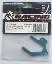 3Racing #TA05-IF11/LB Aluminum Motor Cover Plate - Light Blue (TA05-IFS) NIP