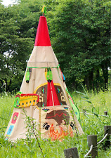 Kids Play tent Tipi indio 3 Red Dress Up House Accesorios Interior Al Aire Libre Nuevo