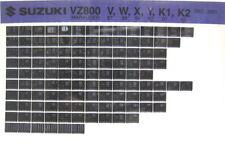 Suzuki VZ800 Marauder 1997 1998 1999 2000 2001 02 Parts Catalog Microfiche s414