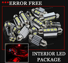 17x Bulbs For Audi A4 8K Avan Canbus INTERIOR PACKAGE XENON RED LED LIGHT KIT