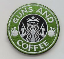 Starbucks Coffee GUN AND COFFEE Tactical Morale 3D   Patch   SJK    367