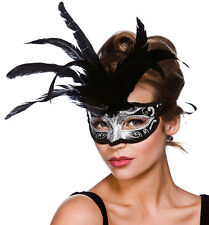 Silver Glitter Milano Eyemask Masquerade Venetian Mask Fancy Dress 9811BS
