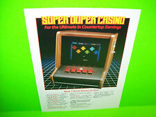 SUPER DUPER CASINO Original Counter Vintage Video Arcade Game Promo Sales Flyer