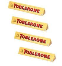 TOBLERONE Chocolate four (4) bars - Made in Switzerland