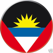 5 x sticker 5cm auto moto velo valise pc portable drapeau Rond Antigua-Barbuda
