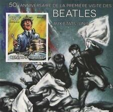 50th ANNIVERSARY BEATLES IN USA RINGO STARR IMPERFORATED STAMP SHEETLET 2014