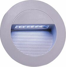 Knightsbridge IP44 Round 14 White LED Recessed Stair & Wall Guide Light