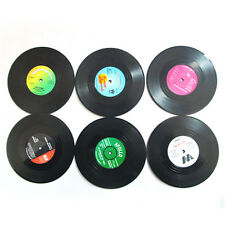 6PCS NIce Vinyl Coaster Groovy Record Cup Drinks Holder Mat Tableware Placemat
