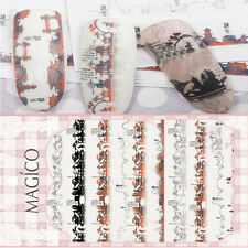 1 Sheet Ultrathin Adhesive 3D Nail Art Sticker Sketch Nail Decal Decoration