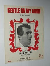 Dean Martin Gentle On My Mind. John Hartford 6 page Sheet Music. 1968.