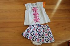 NWT Gymboree Desert Dreams Blue Pinstripe Top~Medallion Skirt w/diaper cover 3T