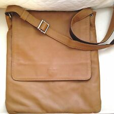 BRUNO ROSSI Brown Italian Leather Shoulder CrossBody Bag Purse Buttery Saks $325