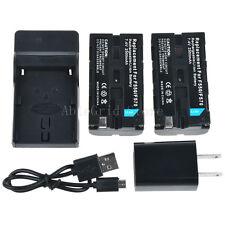 2 x NP-F550 Battery+Charger for Sony NP-F570 NP-F730 NP-F750 F330 F930 F950 F530