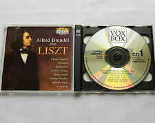 Alfred BRENDEL plays LISZT Piano concertos-Totentanz- ... USA 2CD VOXBOX (1996)